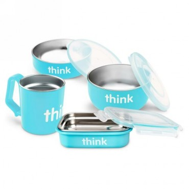 Think, コンプリート BPAフリー・フィーディングセット、 ライトブルー、1組 (Discontinued Item)