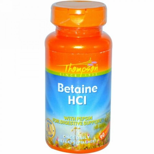 Thompson, Betaine HCL, 90 Tablets