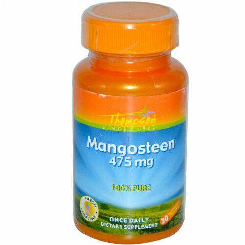 Thompson, Mangosteen, 475 mg, 30 Vegetarian Capsules