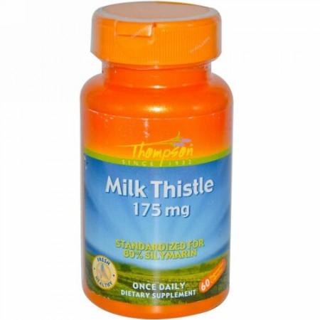Thompson, ミルクシスル、175 mg、60ベジカプセル (Discontinued Item)
