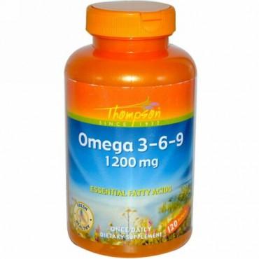 Thompson, オメガ 3-6-9、1200 mg、120 ソフトジェル