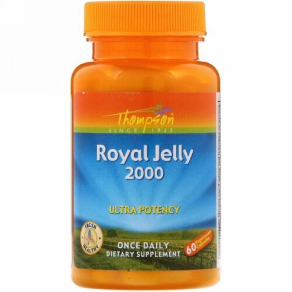 Thompson, ロイヤルゼリー、2,000 mg、植物性カプセル60粒