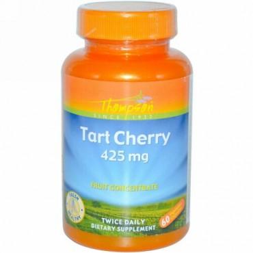 Thompson, タルト・チェリー、 425 mg、ベジキャップ60 錠 (Discontinued Item)