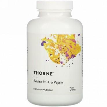 Thorne Research, ベタインHCL&ペプシン、カプセル225粒