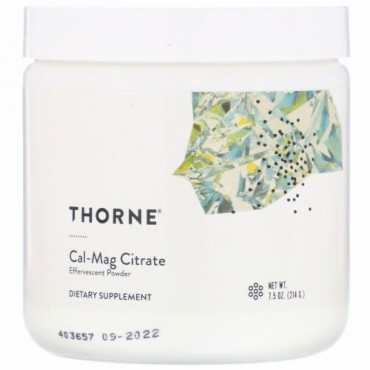 Thorne Research, Cal-Magクエン酸塩、発泡性パウダー、7.5 oz (214 g)