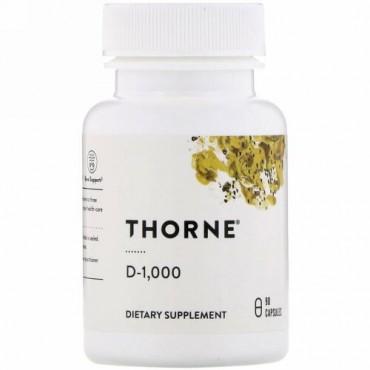 Thorne Research, D-1,000、90粒