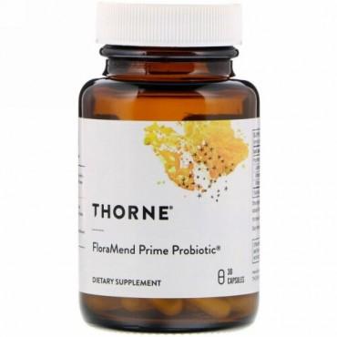 Thorne Research, フローラルメンドプライムプロバイオティクス、ベジカプセル30粒