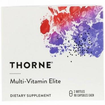 Thorne Research, マルチビタミンエリート、ボトル2本、各90カプセル