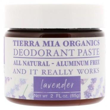 Tierra Mia Organics, デオドラントペースト、ラベンダー、2液量オンス (65 g) (Discontinued Item)