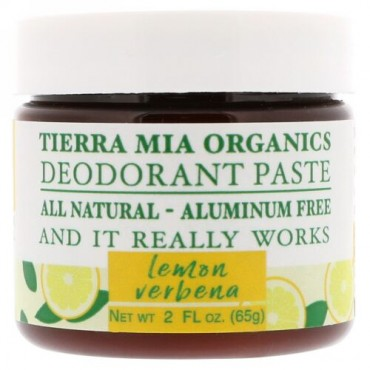 Tierra Mia Organics, デオドラントペースト、レモンバーベナ、2 fl oz (65 g) (Discontinued Item)