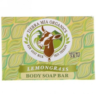 Tierra Mia Organics, ヤギの生ミルクのスキンセラピー, ボディ石鹸, レモングラス, 3.8 オンス (Discontinued Item)