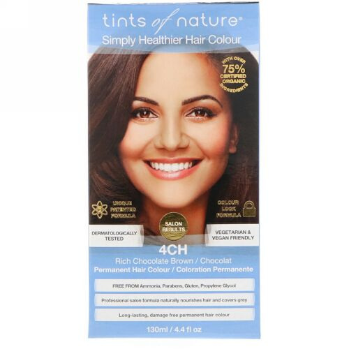 Tints of Nature, Permanent Hair Color, Rich Chocolate Brown, 4CH, 4.4 fl oz (130 ml) (Discontinued Item)