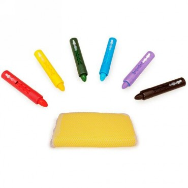 Tolo Toys, Tolo Splash, Bath Time Crayons, Plus Sponge, 2+ Years, 9 Crayons Plus Sponge (Discontinued Item)