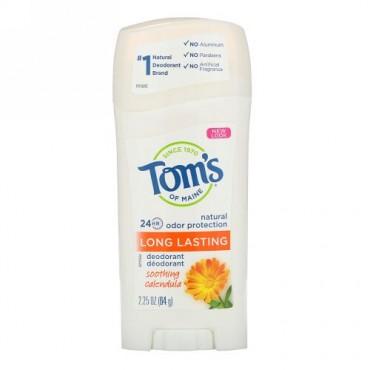 Tom's of Maine, ナチュラル 長時間持続するデオドラント、鎮静効果のあるキンセンカ、2.25 oz (64 g)