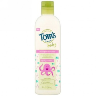 Tom's of Maine, シャンプー&ウォッシュ、ベビー、微香、10液量オンス (295 ml) (Discontinued Item)