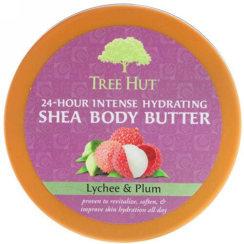 Tree Hut, 24時間持続する強力保湿シアボディバター、 レイチ&プラム、7 oz (198 g)