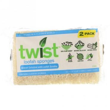 Twist, ヘチマ スポンジ #50, 2個パック (Discontinued Item)