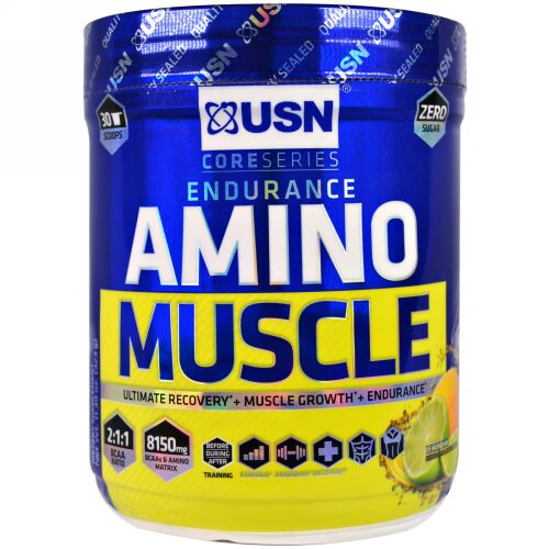 USN, Amino Muscle, Lemon Lime, 11.39 oz (323 g) (Discontinued Item)