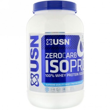 USN, Zero Carb ISOPRO 100% Whey Protein Isolate, Apple Pie, 1.65 lb (750 g) (Discontinued Item)
