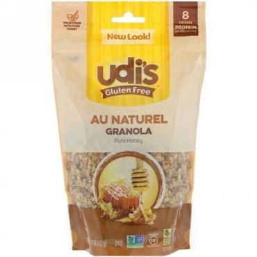 Udi's, Gluten Free , Au Natural Granola, Pure Honey, 11 oz (312 g) (Discontinued Item)