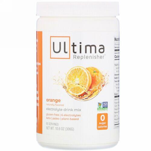 Ultima Replenisher, 電解質ドリンクミックス、オレンジ、306g(10.8オンス)