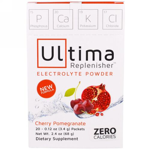 Ultima Replenisher, Electrolyte Powder, Cherry Pomegranate, 20 Packets, 0.12 oz (3.4 g) Each