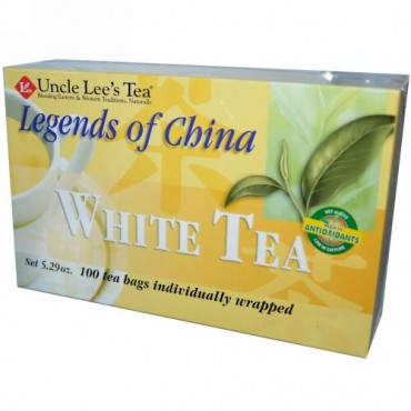 Uncle Lee's Tea, リジェンド・オブ・チャイナ、ホワイトティー、ティーバッグ 100個、 5.29 オンス (150 g)