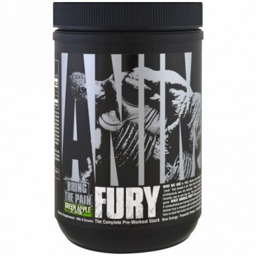 Universal Nutrition, Animal Fury, Green Apple, 495.9 g