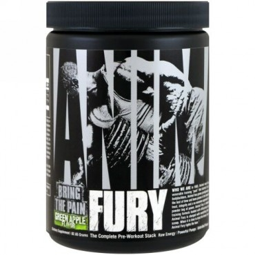 Universal Nutrition, Animal Fury, Green Apple, 82.65 g