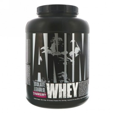 Universal Nutrition, Animal Whey  Isolate Loaded, Strawberry, 5 lbs (2.3 kg) (Discontinued Item)