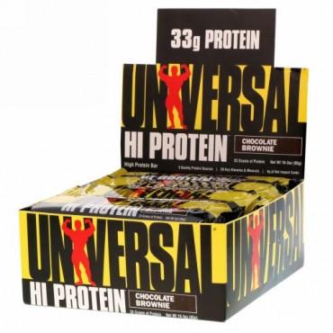 Universal Nutrition, HI Protein(HIプロテイン)バー、チョコレートブラウニー、16本、各85g(3オンス)