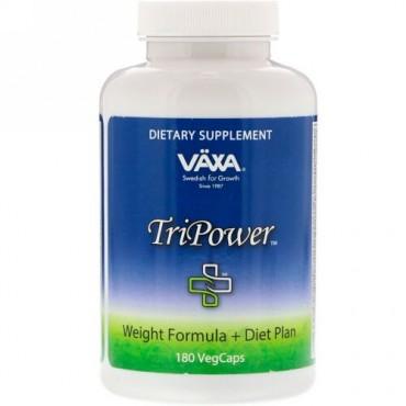 Vaxa International, トライパワー、体重管理 + ダイエットプラン、ベジタブルカプセル180錠 (Discontinued Item)