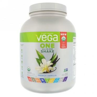 Vega, ワン、オールインワンシェイク、フレンチバニラ、3ポンド (1.6 kg) (Discontinued Item)