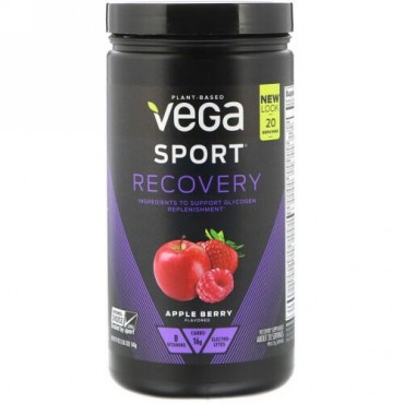 Vega, Sport, Recovery, Apple Berry, 19 oz (540 g)