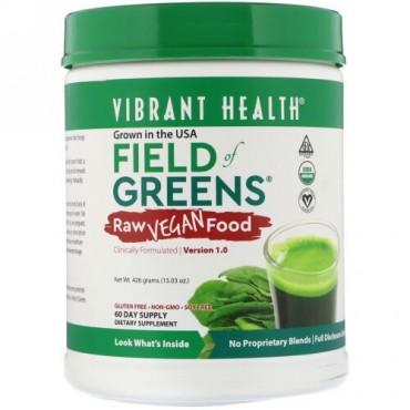 Vibrant Health, Organic Field of Greens, Raw Vegan Food, Version 1.0, 15.03 oz (426 g) (Discontinued Item)