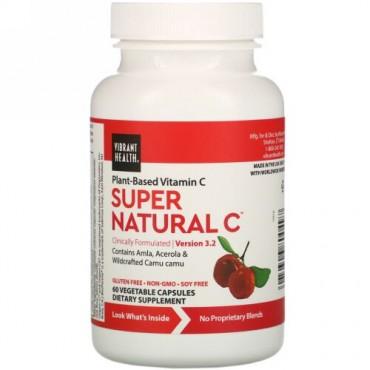 Vibrant Health, Super Natural C(スーパーナチュラルC)、バージョン 3.2、ベジカプセル60粒