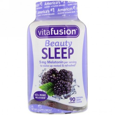 VitaFusion, Beauty Sleep(ビューティスリープ)、天然ベリー味、グミ90粒 (Discontinued Item)