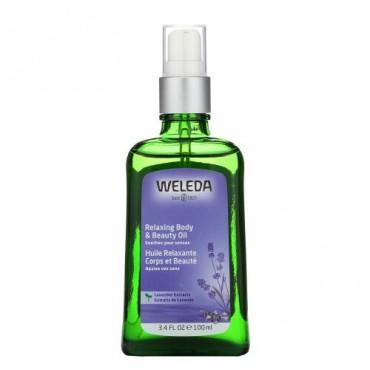Weleda, リラクシングボディ & ビューティーオイル、ラベンダーエキス、3.4液量オンス (100 ml)