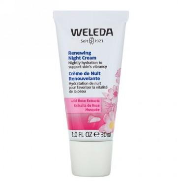 Weleda, リニューイング・ナイトクリーム、ワイルドローズエキス、1.0 fl oz (30 ml)