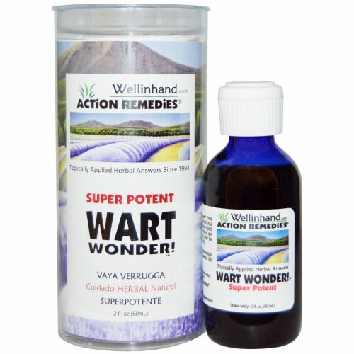 Wellinhand Action Remedies, スーパーポテント、 ワートワンダー!、 2液量オンス (60 ml) (Discontinued Item)