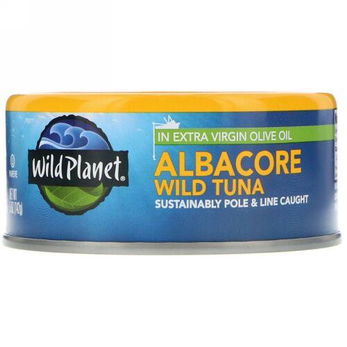 Wild Planet, ビンナガマグロエクストラヴァージンオイル漬け、 5オンス (142 g)