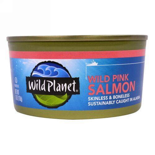 Wild Planet, ワイルドピンクサーモン、 6 oz (170 g)