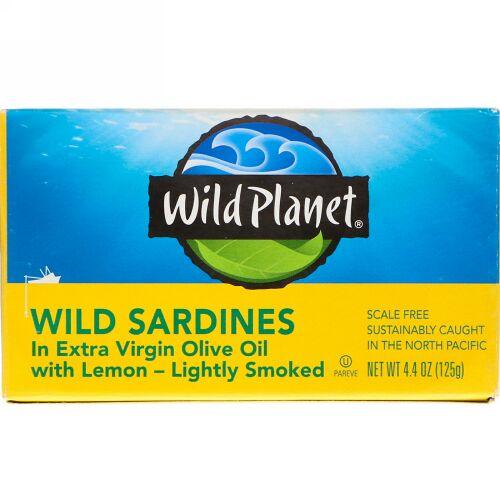Wild Planet, レモン配合エクストラバージンオイル漬けイワシ, 4.4オンス (125 g)