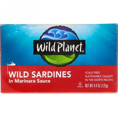 Wild Planet, 天然いわしのマリナラソース漬け、4.375オンス(125 g)