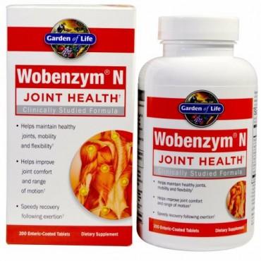 Wobenzym N, 関節の健康、200腸溶錠