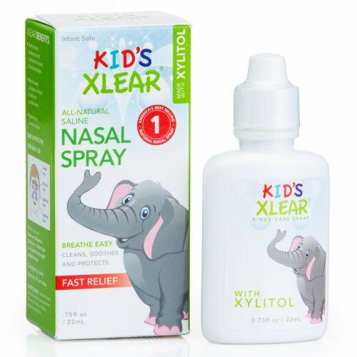 Xlear, 子供用キシリア, 生理食塩水鼻スプレー, 0.75液量オンス(22 ml)