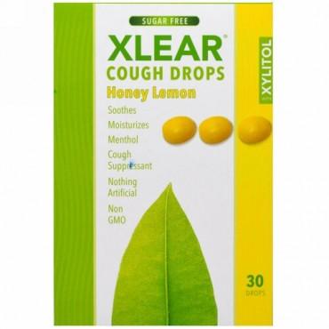 Xlear, キリシトール, 咳止めドロップ, 無糖, ハチミツとレモン, 30滴 (Discontinued Item)