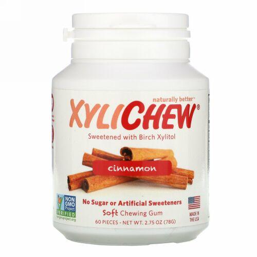 Xylichew, Sweetened with Birch Xylitol, Cinnamon, 60 Pieces, 2.75 oz (78 g)