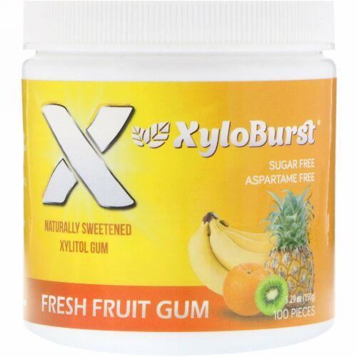 Xyloburst, Xylitol Chewing Gum, Fresh Fruit , 5.29 oz (150 g), 100 Pieces