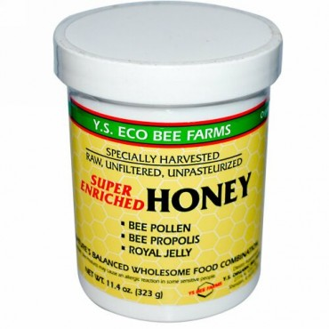 Y.S. Eco Bee Farms, スーパーエンリッチドハニー、11.4 oz (323 g)